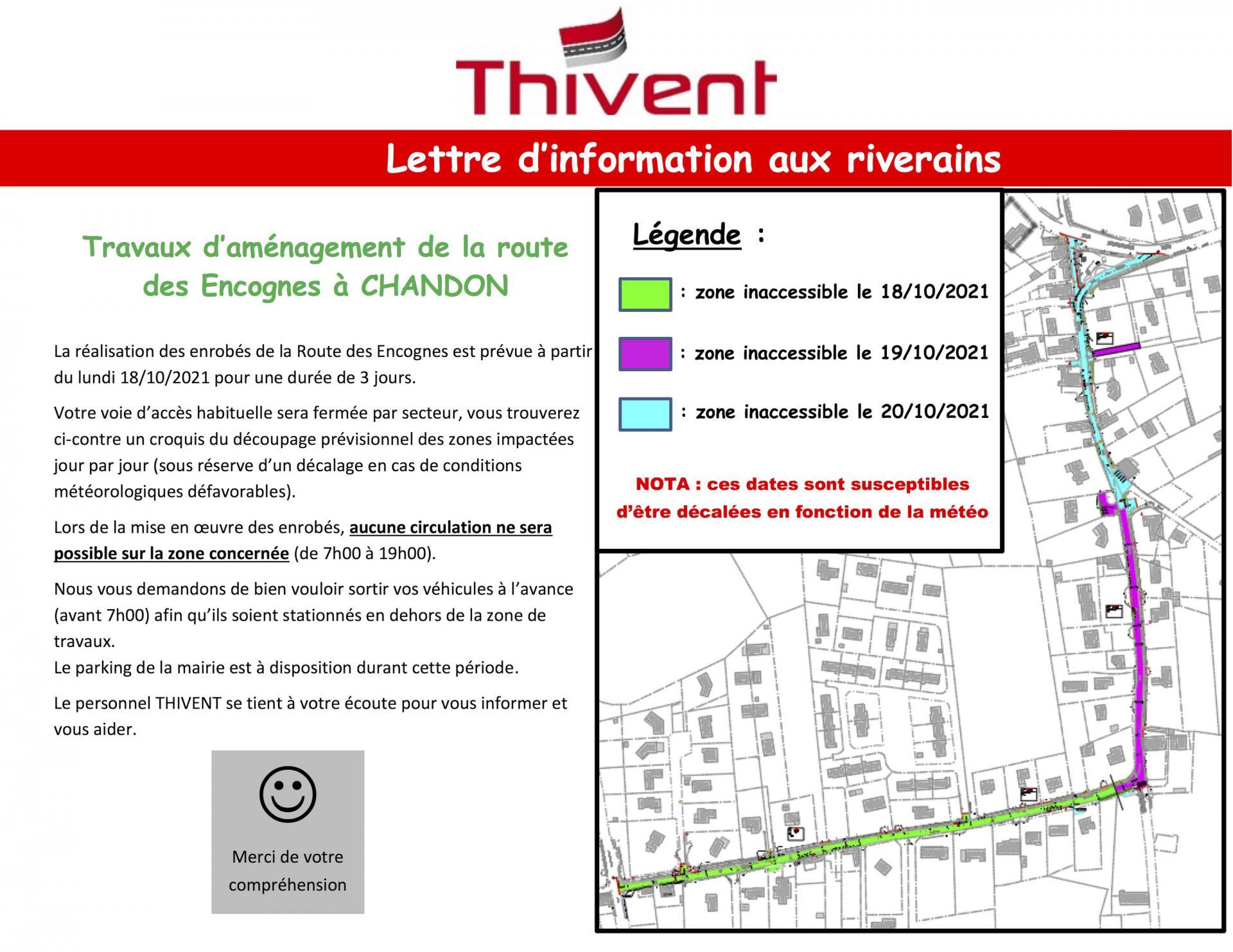 Chandon note info riverains le 08 10 2021